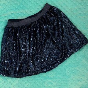 Size M ( 7-8 ) Cat & Jack Navy sequin skirt